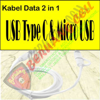 Kabel Data 2 in 1 USB Type C & Micro USB - MALANG
