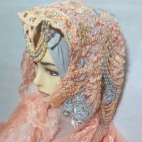 Glamour Ima Salem - Kerudung Pesta Pengantin Ijab Pernikahan Kain Tile