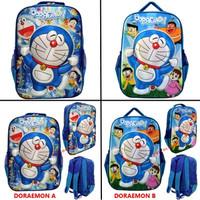 Tas Sekolah Ransel Anak SD Doraemon 3D Gambar Timbul