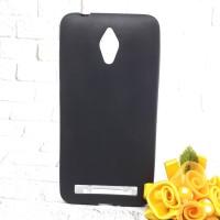 Case Asus ZB500 Zenfone Go 5 inch Black Matte Anti Minyak Soft Hitam