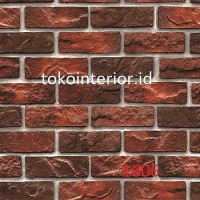 Wallpaper Dinding 3D Motif Batu Bata Merah 53cm x 10m