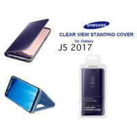 Casing Clear View Standing Cover Flip Case Mirror Samsung J5 2017 (OEM