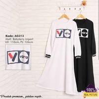 gamis muslim   AG 313 white   fashion murah wanita   dress diskon