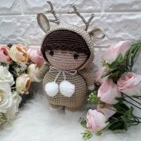 boneka rajutan amigurumi Rusa handmade souvenir /kadonatal