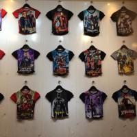 Kaos Super Hero Spiderman, Ironman, Bumblebee Anak Laki2