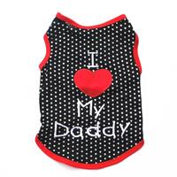 Baju anjing kaos kucing kaus hewan dog clothes cat kostum Love Daddy