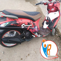 Real Pict Decal Striping YAMAHA FINO All Series Morif Samurai Red