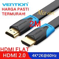[2M - B02] Vention Kabel Flat HDMI v1.4b Full HD 3D Hdmi 2 m Flat B02