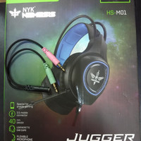 Nyk Headset Gaming Jugger HS-M01 / HS M-01 Free Splitter Audio