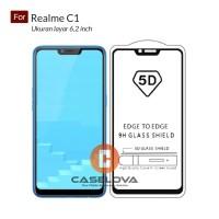 Premium 5D Full Cover Tempered Glass Warna For Oppo Realme C1 6.2 inch