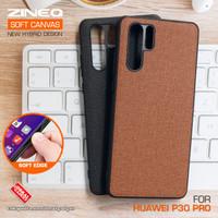 Soft Canvas Case Huawei P30 Pro Softcase Hard Silikon Casing Cover Gel - Cokelat
