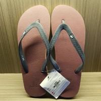 Sandal Panama / Sandal Jepit Pria Classic Male Maroon List Hitam