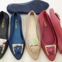 Baru Sepatu Jelly Flat | Balet Jelly Shoes - Jelly Shoes Elegant -