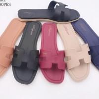Baru Sendal Flat Hermes - Sepatu Hermes / Flat Shoes Hermes