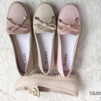Baru Sepatu Sendal Wanita Casual | Slip On | Jelly Shoes Flat - Ivory,