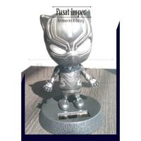 Boneka Dashboard Mobil Boneka Kepala Goyang Avengers BLACK PENTER