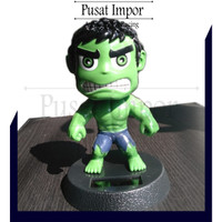 Boneka Dashboard Mobil Boneka Kepala Goyang Avengers Incredible Hulk