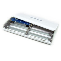DIY Powerbank Power Bank PB 5x 18650 Baterai Vape Kotak Box Case 5v