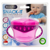 Lucky baby - Snack it easy grip snack cup- LB0382 Pink