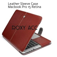 Tas Laptop Cover Magnetic Flip PU Sleeve Leather Macbook Pro 15 Retina