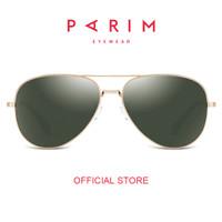 Parim/Kacamata Hitam Pria/Sunglasses/Green Hunter/Gold Frame 11020K1