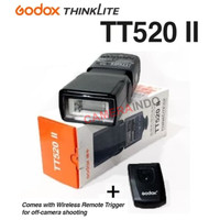 Flash Godox TT520 II plus Wireless Trigger Speedlite kamera mirrorless