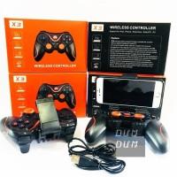 GAMEPAD X3 JOYSTICK Bluetooth WIRELESS SMARTPHONE ANDROID HOLDER HP PC