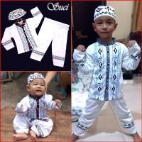 BAJU ANAK MUSLIMIN Baju Koko Gamis Muslim Anak Murah Putih SUCI MARUNO