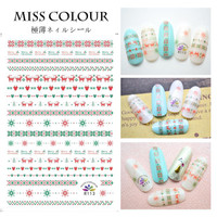 Christmas Japanese Ultra Thin Nail Sticker Stiker Kuku R113
