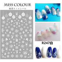 Christmas Snowflake Japanese Ultra Thin Nail Sticker Stiker Kuku R247W