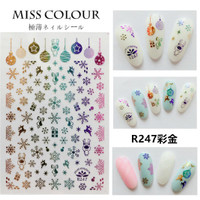 Christmas Snowflake Japanese Ultra Thin Nail Sticker Stiker Kuku R247R