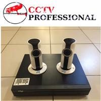 PAKET CCTV EDGE 8 CHANNEL 2 IP CAMERA LENGKAP HDD