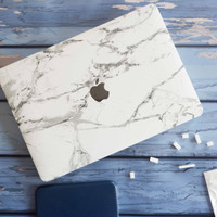 MACBOOK Case DRW NEW-MARBLE WHITE NEW AIR PRO RETINA 11 12 13 15 INCH