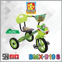 sepeda anak roda tiga pmb music senderan cat promo