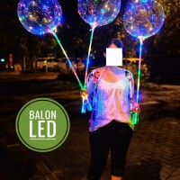 Balon transparan LED lengkap 24 inch kedap kedip