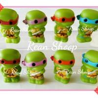 mainan Action figure topper kue ulang tahun turtles kura kura ninja