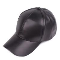 Topi baseball Polos Hitam Krem kulit Impor pria wanita cowok- Snapback