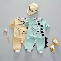 Pakaian bayi unisex/ Setelan bayi dinosaurus / Baju bayi / Kaos bayi