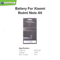 Hippo baterai BN43 Xiaomi Redmi Note 4X 4100 mAh Premium Cell Quality