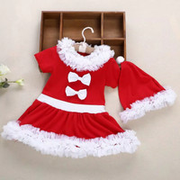 Kostum santa claus natal anak cewek import / topi santa natal