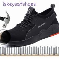 Sepatu Safety Sport Fashion Black