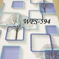 S6051 Biru Elegant Wallpaper Dinding 10M x 45Cm