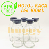 Botol Asi Kaca 100Ml Breastmilk Glass Bottle Bukan BKA Momogi