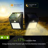 Lampu solar taman tenaga surya kuning PIR Motion sensor gerak 40 LED