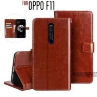 Oppo F11 2019 Flip Cover Wallet Leather Case Kulit