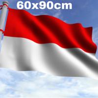 bendera merah putih ukuran 60x90cm - Putih