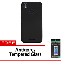 Case Softcase Advan vandroid S5E Fingerprint Free Tempered Glass
