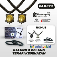 PROMO 2 Set Ginsamyong Titanium Series 3 Nano Gold BONUS 2 Set Kalung