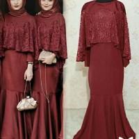 Gamis / Baju / Maxi / Dress Wanita Muslim Humatia Jersey + Brukat HQ