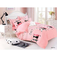 bad cover murah S Living Set 6 in 1 King Size 180 x 200 cm warna pink
